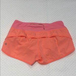 EUC Lululemon Speed Shorts 4/xs